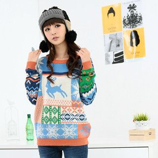 59 Seconds - Snowflake Print Sweater