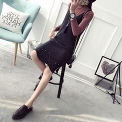 Qimi - Beaded Knit Tank Dress