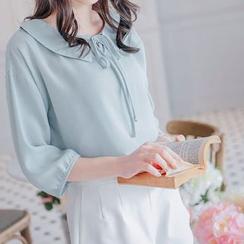 Tokyo Fashion - Plain Tie-collar Top