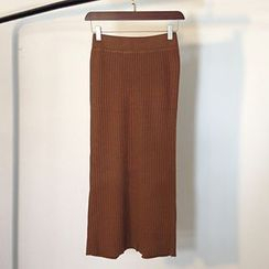 Coralie - Long Knit Skirt