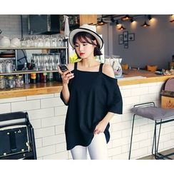 HOTPING - Off-Shoulder Cotton Top