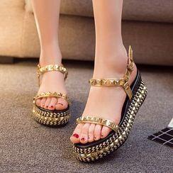 Hannah - Studded Platform Sandals