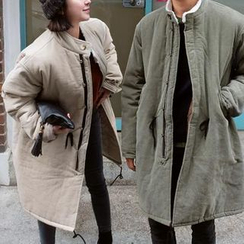 Evolu Fashion - Couple Matching Corduroy Padded Coat