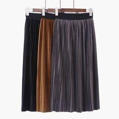 City of Dawn - Pleated Midi Skirt