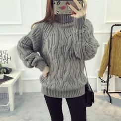 LOFT - Turtleneck Cable Knit Sweater