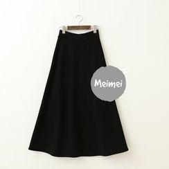 Meimei - Fleece-lined Midi Skirt