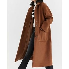 Someday, if - Single-Breasted Wool Blend Long Coat