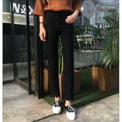 MISS YOYO - 散摆高腰牛仔裤