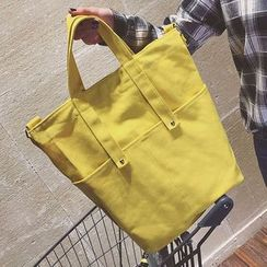 Youme - Plain Canvas Tote Bag