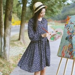 Sens Collection - Floral Print Long Sleeve Dress