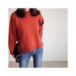 MASoeur - Slit-Hem Wool Blend Sweater