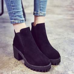Laceuplux - 粗跟踝靴