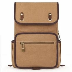 Mr.ace Homme - Flap Canvas Backpack