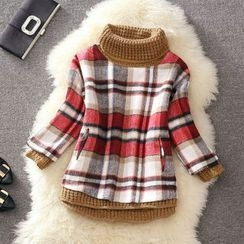Clementine - Plaid Turtleneck Sweater