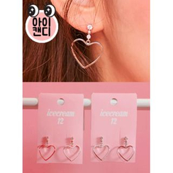 icecream12 - Heart Dangle Earrings