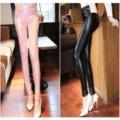 Splashmix - Faux-Leather Leggings