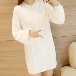 Emeline - Cable Knit Sweater Dress