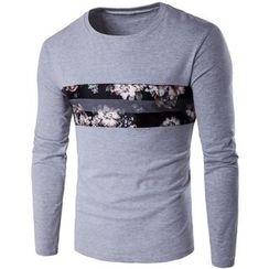 Fireon - Floral Print Long-Sleeve T-Shirt