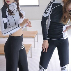Sirene - Set: Lettering Surf Top + Pants