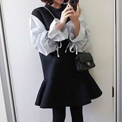 NEUF - Long-Sleeve Panel A-line Dress
