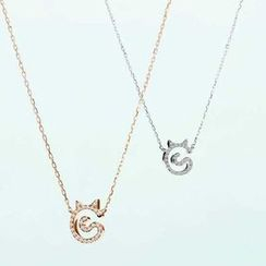 Nanazi Jewelry - Cat Rhinestone Necklace