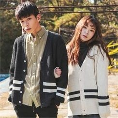 Superstar.i - Couple Contrast-Trim Cardigan