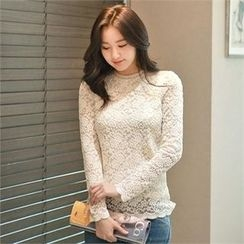 Styleberry - Round-Neck Lace Top