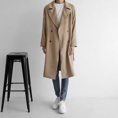 Seoul Homme - Double-Breast Trench Coat