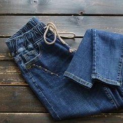 YOYO - 抽绳腰牛仔裤
