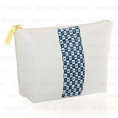 Estee Lauder - Blue And White Lattice Print Pouch