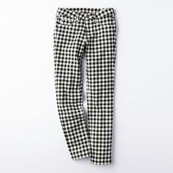 Janseed - Plaid Slim Fit Pants