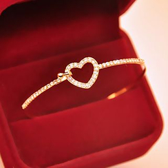 Cheermo - Rhinestone Heart Bangle