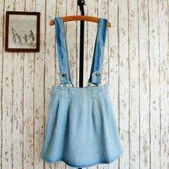 JVL - Denim Suspender Skirt