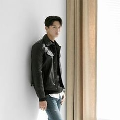 Seoul Homme - Faux-Leather Jacket