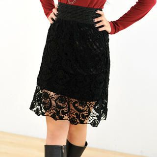 59 Seconds - Crochet-Lace Skirt