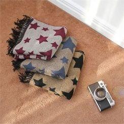 Styleberry - Star Print Knit Scarf