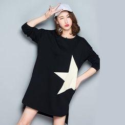 Epoch - Long-Sleeve Star T-Shirt Dress