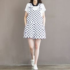 chome - Polka Dot Jumper Shorts