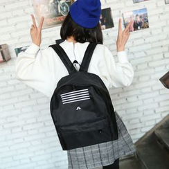Bagolo - Contrast-Stripe Nylon Backpack