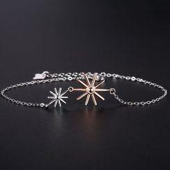 Zundiao - Sterling Silver Sunflower Bracelet