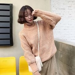 Bloombloom - High Neck Thick Sweater
