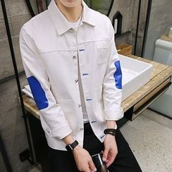 NAPO - Color Block Button Jacket
