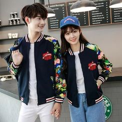 CASSY - Couple Matching Floral Baseball Jacket