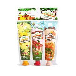 esfolio - Fresh Fruit Hand Cream Set 3pcs: Strawberry 60ml + Banana 60ml + Peach 60ml