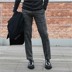 BYMONO - Plaid Wool Blend Dress Pants