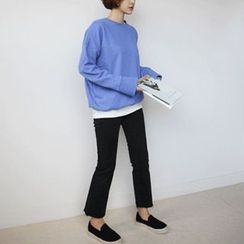 STYLEBYYAM - Colored Drop-Shoulder Pullover