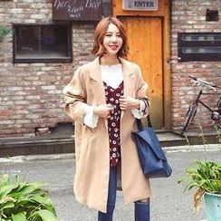 Seoul Fashion - Single-Breasted Pocket-Detail Jacket