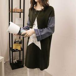 GLYUN - 星星直筒连衣裙