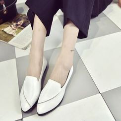 Simply Walk - Faux Leather Pointy Loafers