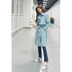 ATTYSTORY - Wool Blend Trench Coat with Belt